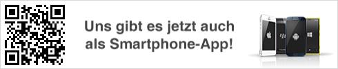 Uns gibts jetzt auch als Smartphone-App!